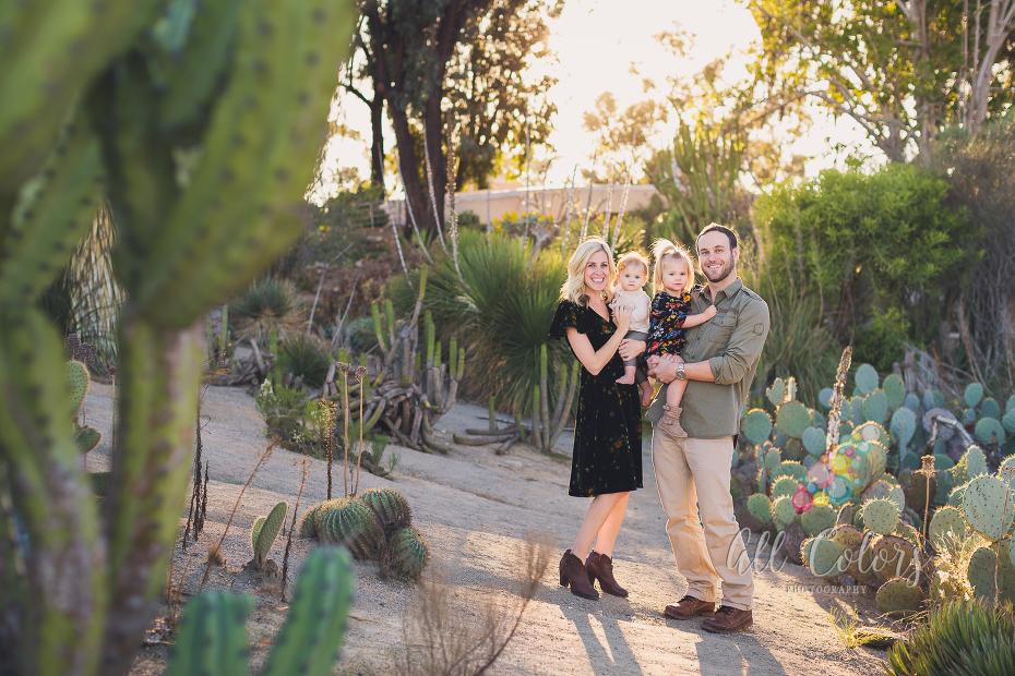 San Diego Cactus Garden Family Photoshoot » San Diego